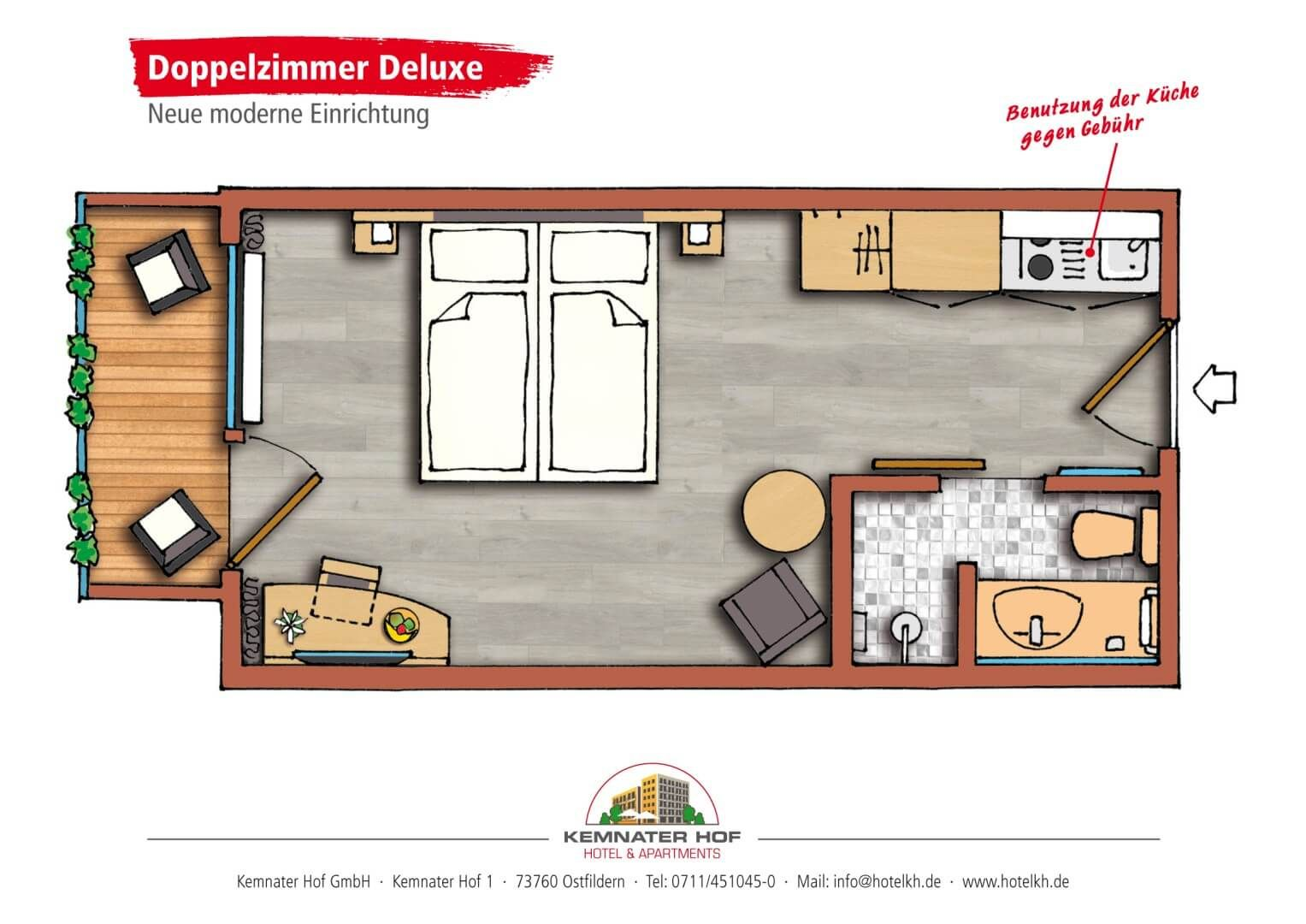 Kemnater Apartments: Double Room Deluxe
