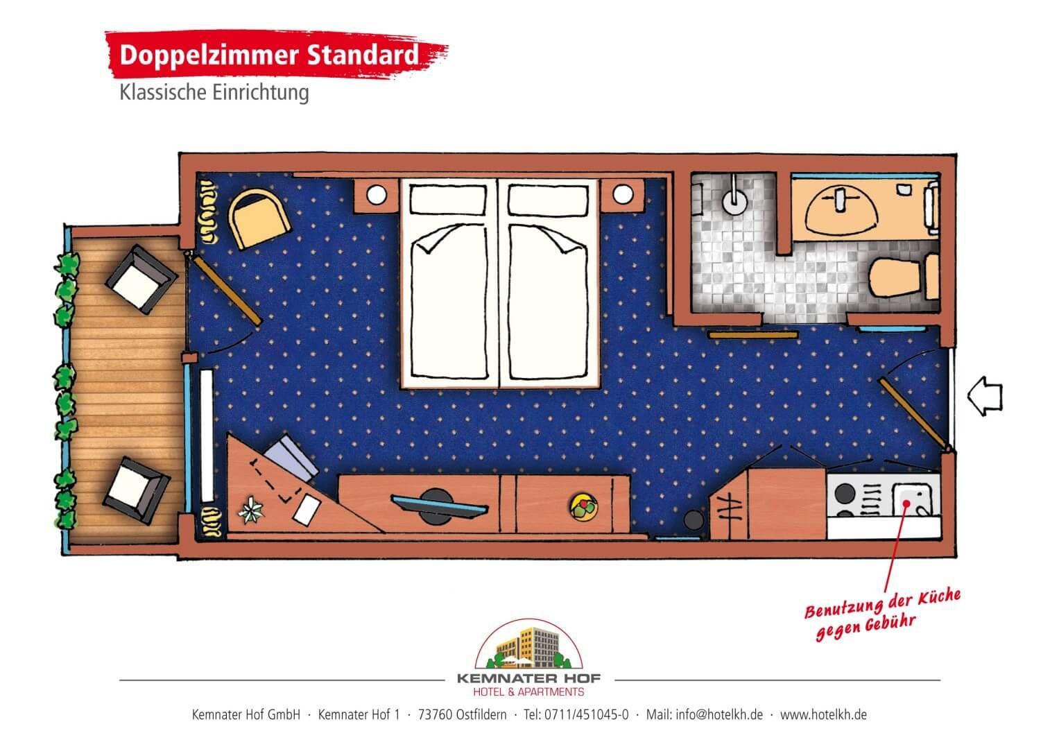 Kemnater Apartments: Double Room Standard